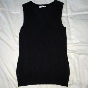 Black V-Neck Sweater Vest by Ricki's size Small